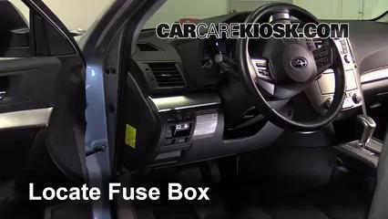 Interior Fuse Box Location: 2010-2014 Subaru Outback - 2012 Subaru Outback  2.5i Premium 2.5L 4 Cyl. | 2014 Subaru Outback Fuse Box |  | CarCareKiosk