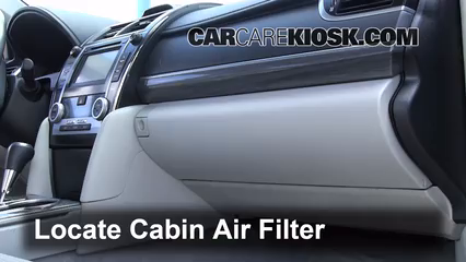 2012 Toyota Camry Hybrid XLE 2.5L 4 Cyl. Air Filter (Cabin)