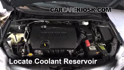 2012 Toyota Corolla LE 1.8L 4 Cyl. Coolant (Antifreeze) Check Coolant Level