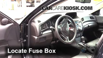 Interior Fuse Box Location: 2013 2017 Acura ILX