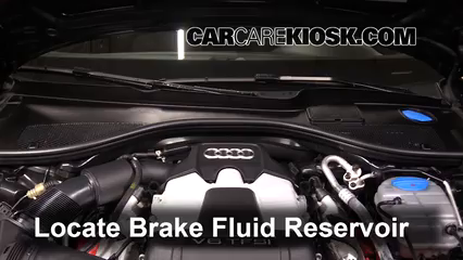 2013 Audi A6 Quattro Premium 3.0L V6 Supercharged Brake Fluid