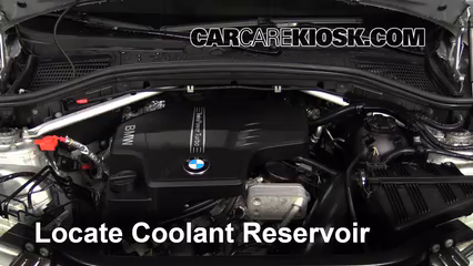 How to Add Coolant: BMW X3 (2011-2016) - 2013 BMW X3 xDrive28i 2.0 Bmw Engine Coolant on bmw coolant replacement, bmw coolant pump, blue coolant, car coolant, bmw engine flush, mini cooper coolant, waterless coolant, bmw oil, bmw engine filter, radiator coolant, bmw engine parts, 2003 bmw coolant, water coolant, bmw coolant fluid, bmw engine sizes, bmw coolant reservoir, antifreeze coolant, bmw coolant type, bmw coolant tank, bmw power steering fluid,