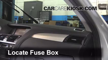 interior fuse box location: 2011-2017 bmw x3