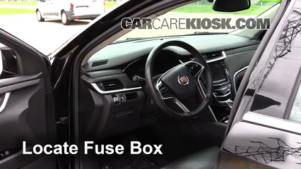 interior fuse box location: 2013-2019 cadillac xts