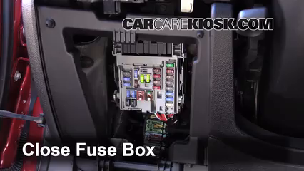 interior fuse box location   chevrolet malibu