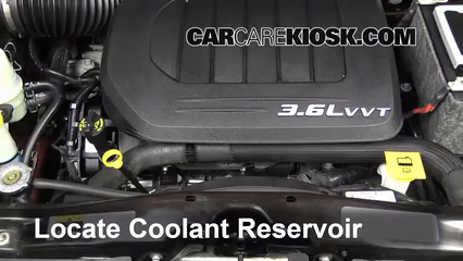 2013 Chrysler Town and Country Touring 3.6L V6 FlexFuel Refrigerante (anticongelante) Agregar refrigerante