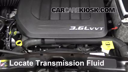 2013 Chrysler Town and Country Touring 3.6L V6 FlexFuel Líquido de transmisión Controlar nivel de líquido