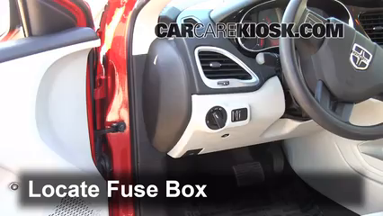 Interior Fuse Box Location: 2013-2016 Dodge Dart - 2013 Dodge Dart ...