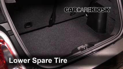 fix a flat tire fiat 500 (2012 2019) 2013 fiat 500 c pop 1 4l 4 cyl Jeep Compass Spare Tire Location