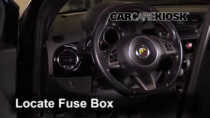 [DIAGRAM_0HG]  Interior Fuse Box Location: 2012-2019 Fiat 500 - 2013 Fiat 500 Abarth 1.4L  4 Cyl. Turbo | Fuse Box Fiat 500 Pop |  | CarCareKiosk