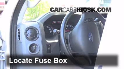 interior fuse box location 2008 2014 ford e 350 super duty 2013 rh carcarekiosk com ford e350 fuse box location ford e350 fuse box layout