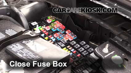 replace a fuse 2009 2017 ford flex 2013 ford flex limited 3 5l v6 2014 Ford F-550 Fuse Box 6 replace cover secure the cover and test component