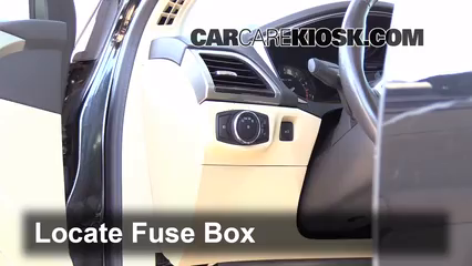 interior fuse box location: 2013-2019 ford fusion