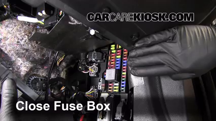 Interior Fuse Box Location: 2010-2014 Ford Mustang - 2013 Ford Mustang 3.7L  V6 Convertible