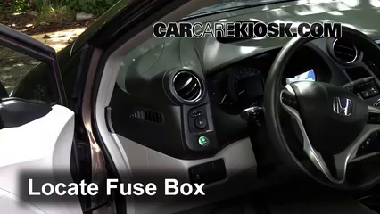 Interior Fuse Box Location: 2010-2014 Honda Insight - 2013 Honda Insight LX  1.3L 4 Cyl.CarCareKiosk