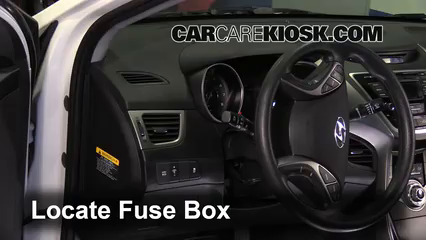 Interior Fuse Box Location 2013 2014 Hyundai Elantra Coupe