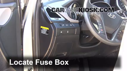 Interior Fuse Box Location 2013 2017 Hyundai Santa Fe