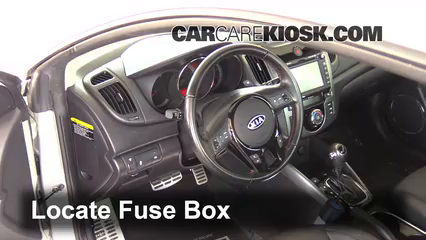 interior fuse box location 2010 2013 kia forte koup 2013 kia Kia Forte Accessories