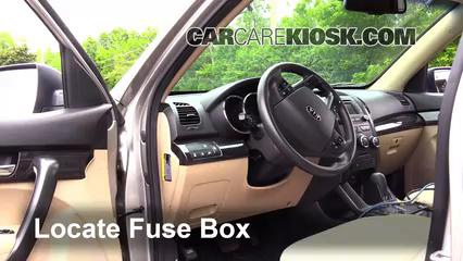 kia sorento fuse box location interior fuse box location 2011 2013 kia sorento 2013 kia  2013 kia sorento