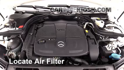 2013 Mercedes-Benz C300 4Matic Sport 3.5L V6 Air Filter (Engine) Replace