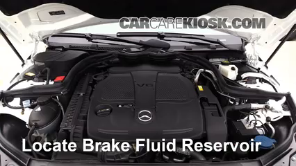 2013 Mercedes-Benz C300 4Matic Sport 3.5L V6 Brake Fluid Check Fluid Level