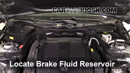 2013 Mercedes-Benz E350 4Matic 3.5L V6 Sedan Brake Fluid Check Fluid Level