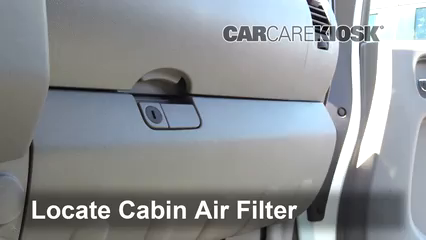 2013 Nissan Frontier SV 2.5L 4 Cyl. Extended Cab Pickup Air Filter (Cabin)