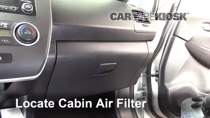 2013 Nissan Leaf SL Electric Filtro de aire (interior)