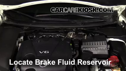 2013 Nissan Maxima SV 3.5L V6 Brake Fluid Check Fluid Level