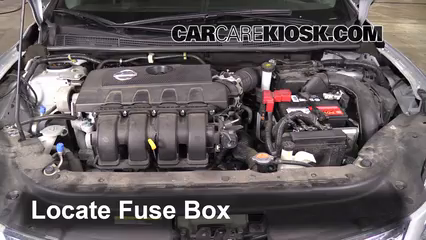 replace a fuse 2013 2017 nissan sentra 2013 nissan sentra sv 1 8llocate engine fuse box and remove cover