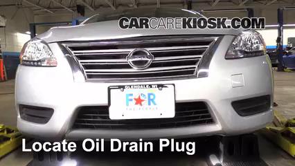 Transmission Fluid Level Check Nissan Sentra (2013-2019