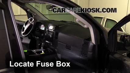 interior fuse box location 2004 2015 nissan titan 2013 Nissan Titan Engine Fuse Box 05 nissan titan fuse box wiring diagram