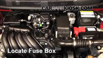 2013 Nissan Versa 1.6 SL 1.6L 4 Cyl.%2FFuse Engine Part 1 blown fuse check 2012 2016 nissan versa 2013 nissan versa 1 6 sl nissan versa fuse box diagram at gsmx.co