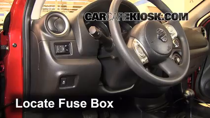 Fuse Interior Part 1 interior fuse box location 2012 2016 nissan versa 2013 nissan 2016 nissan versa note fuse box location at bayanpartner.co