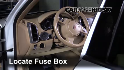 Interior Fuse Box Location 2011 2017 Porsche Cayenne 2013 Porsche