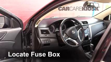 Interior Fuse Box Location: 2010-2013 Suzuki Kizashi - 2013 Suzuki Kizashi  GTS 2.4L 4 Cyl.CarCareKiosk