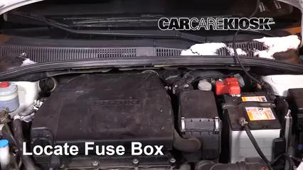 Interior Fuse Box Location 2007 2013 Suzuki Sx4 2007