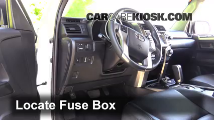 Interior Fuse Box Location 2010 2019 Toyota 4runner