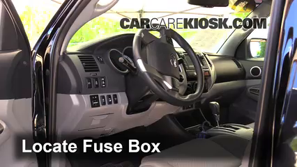 toyota pickup fuse box removal interior fuse box location 2005 2015 toyota tacoma 2013 toyota  interior fuse box location 2005 2015