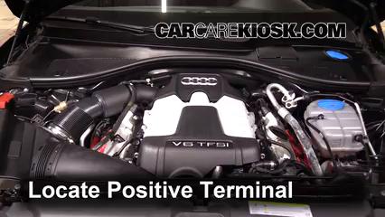 2013 Audi A6 Quattro Premium 3.0L V6 Supercharged Battery Jumpstart