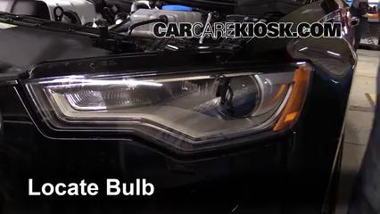 2013 Audi A6 Quattro Premium 3.0L V6 Supercharged Lights Daytime Running Light (replace bulb)