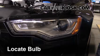 2013 Audi A6 Quattro Premium 3.0L V6 Supercharged Luces Luz de carretera (reemplazar foco)