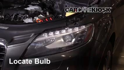 2013 Audi Q7 Premium 3.0L V6 Supercharged Luces Luz de marcha diurna (reemplazar foco)