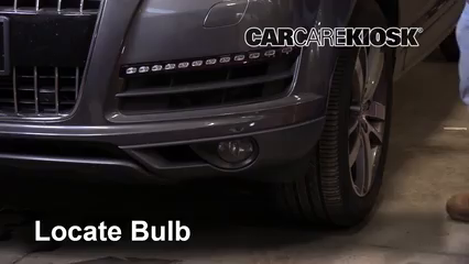 2013 Audi Q7 Premium 3.0L V6 Supercharged Luces Luz de niebla (reemplazar foco)