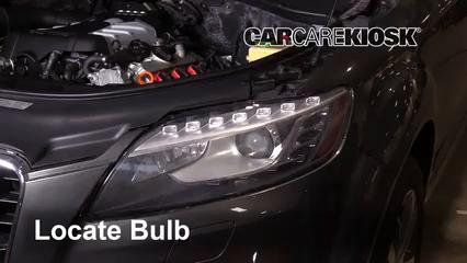 2013 Audi Q7 Premium 3.0L V6 Supercharged Luces Luz de carretera (reemplazar foco)