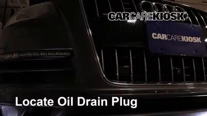 2013 Audi Q7 Premium 3.0L V6 Supercharged Aceite Cambiar aceite y filtro de aceite