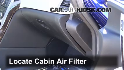 2013 Buick Verano 2.4L 4 Cyl. FlexFuel Filtre à air (intérieur)