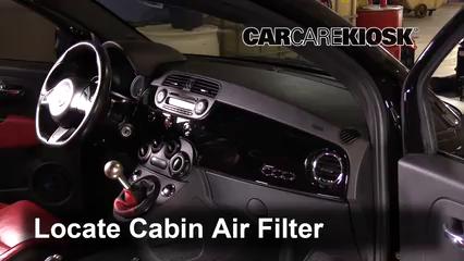 2013 Fiat 500 Abarth 1.4L 4 Cyl. Turbo Filtre à air (intérieur)