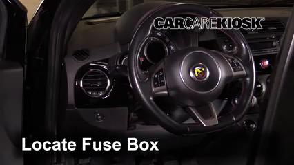 interior fuse box location: 2012-2019 fiat 500 - 2013 fiat 500 c pop 1.4l 4  cyl.  carcarekiosk