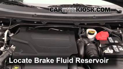 2013 Ford Flex Limited 3.5L V6 Turbo Sport Utility (4 Door) Líquido de frenos Agregar fluido